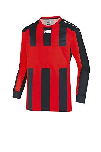 JAKO Herren Fußballtrikots LA Trikot Milan, weiß/rot/royal, S