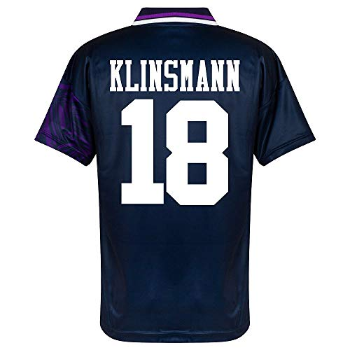Score Draw Tottenham Away Klinsmann 18 Retro Trikot 1994 (Retro Filz-Spielerbeflockung) - XXL