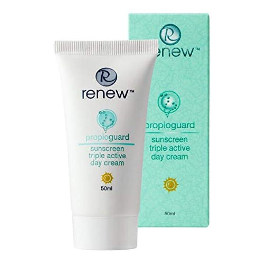 飢え踏みつけのホストRenew Propioguard Sunscreen Triple Active Day Cream 50ml