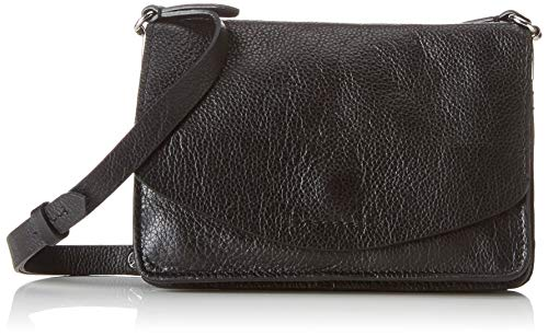 Clarks Damen Marva Wave Umhängetasche, Schwarz (Black Leather), 5.00 x 21.40 x 18.40 cm