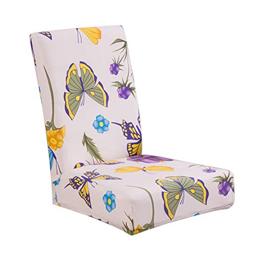 TREESTAR Butterfly Stretch Chair Cover Home Dining Chair Cover Hotel Restaurant Four Seasons Dining Chair Cover