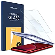 """Caseology, 2Pack, iPhone 11 Screen Protector/iPhone XR Screen Protector (6.1""""), Auto-install Technology, Case Friendly, Face ID Compatible, Tempered Glass"""