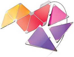 Nanoleaf Aurora Smarter Kit Set de iluminación LED, Panel + Controlador Integriert, 2 W, Blanco, 13.7 x 29.5 x 11 cm, 9 Unidades