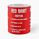 KWELJW Tazza Star Trek Red Shirt Vintage Tazza da caffè in Ceramica Tazza Unica E Interessante Home Office 11,6 Once (330 Ml)