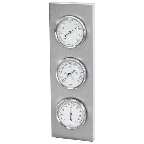 Hama Außenwetterstation Verona mit Thermometer, Hygrometer, Barometer, rostfrei, analog