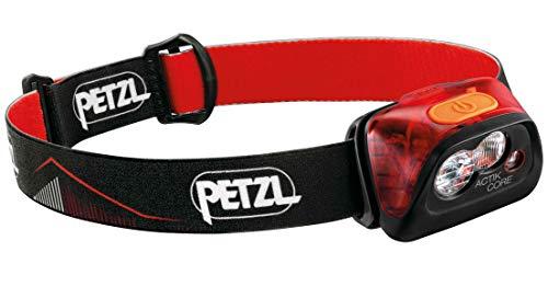 Petzl Uni Stirnlampe Actik Core, schwarz / rot, 450 lumens max output