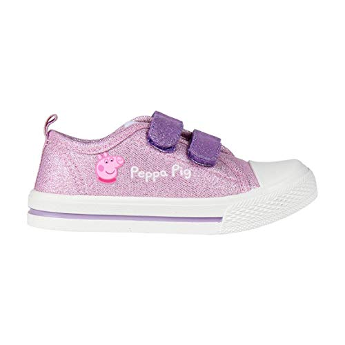 Cerdá Zapatilla de Peppa Pig para Niña con Cierre de Velcro de Color Rosa, Niñas, 24 EU