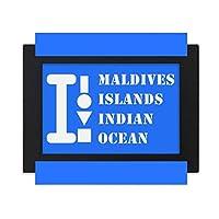 モルジブ諸島 デスクトップフォトフレーム画像ブラックは、芸術絵画7 x 9インチ