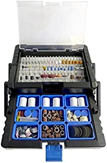 500pc Rotary Tool Accessory Kit in Cantilever Organizer Case Set