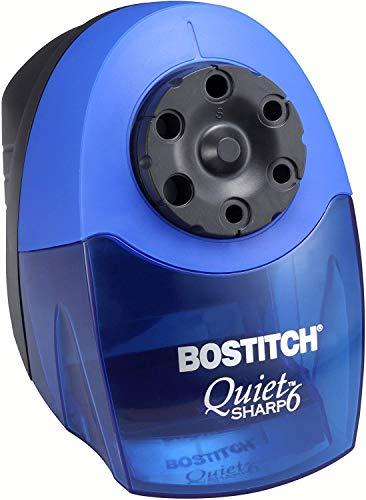 Bostitch QuietSharp 6 Heavy Duty Classroom Electric Pencil Sharpener, 6-Holes, Blue (EPS10HC) 1 Pack