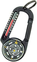 Sun Company TempaComp - Ball Compass and Thermometer Carabiner   Hiking, Backpacking, and Camping Accessory   Clip On to Pack, Parka, or Jacket