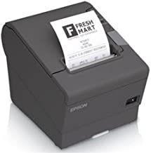 Epson C31CA85656 TM-T88V Thermal Receipt Printer with Power Supply, Energy Star Rated, Ethernet and USB Interface, Dark Gray (Renewed)