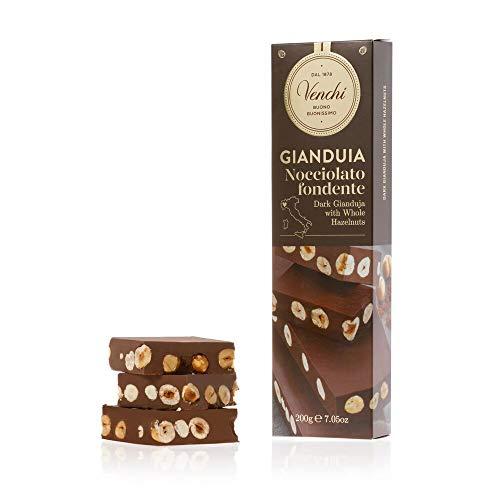 Venchi Dark Chocolate Gianduja With Hazelnuts Chunky Bar 7.04oz.