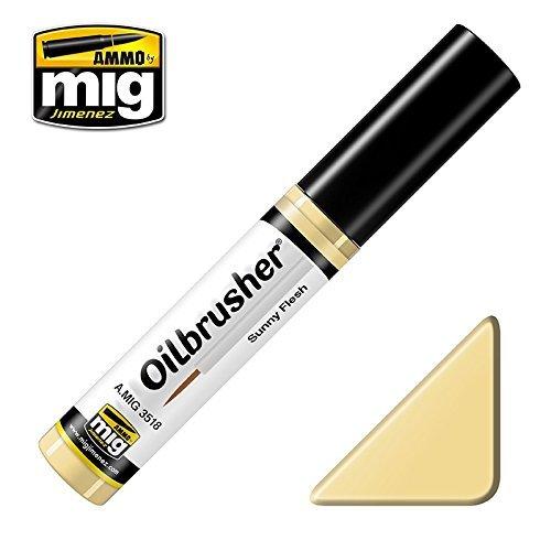 Ammo of Mig Oilbrusher Sunny Flesh - Oil Paint with Fine Brush Applicator #3518