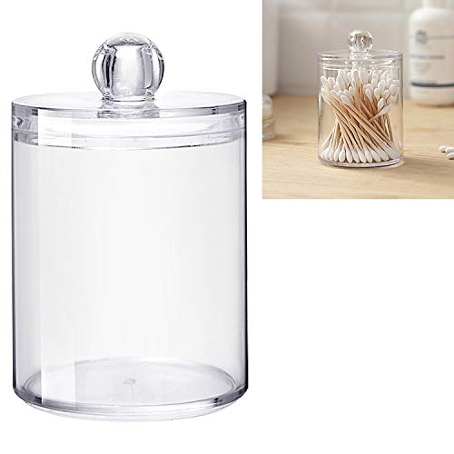 Beauty Transparent Round Plastic Cosmetic Cheap mail order specialty store Industry No. 1 Swab Storag Box Cotton