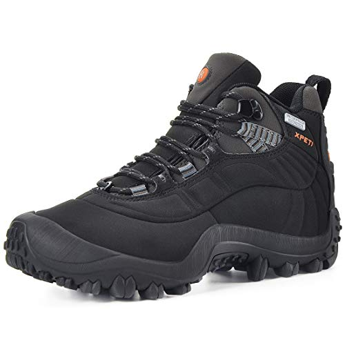 XPETI Men's Thermator Mid Waterproof Hiking Hunting Outdoor Boot Black 14