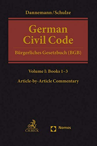 German Civil Code Volume I: Books 1-3: §§ 1-1296