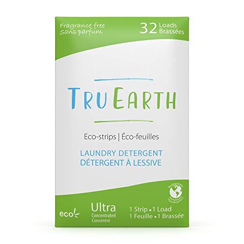 Tru Earth, Eco-Strips, detersivo in strisce ecologico ultra concentrato per bucato, senza profumo