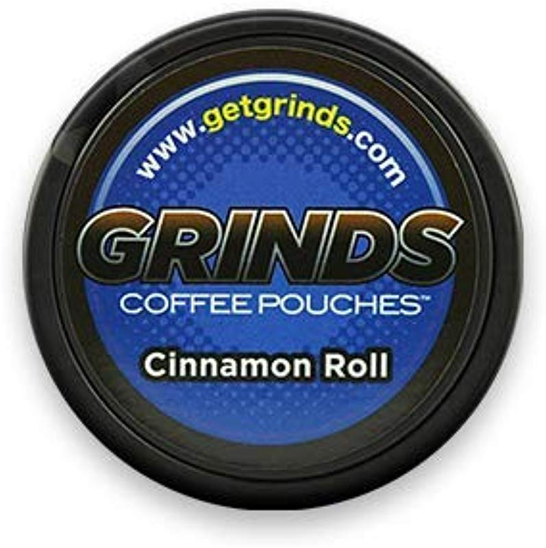 Grinds Coffee Pouches 3 Cans Cinnamon Roll Tobacco Free Healthy Alternative