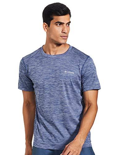 Columbia Zero Rules, Camiseta de manga corta, Hombre, Azul (Carbon Heather), Talla M