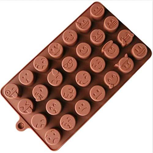 MoMo Emoji Chocolat Moule en Silicone pour Gâteau Biscuits Moule Accessoires De Cuisson Fondant Bonbons Silicone DIY Moules, Emoji