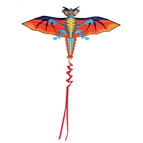 Yhjkvl Cometa 3D enorme dragón cometa familia deportes al aire libre juguete volador con 30 m línea de cometa para playa parque verano