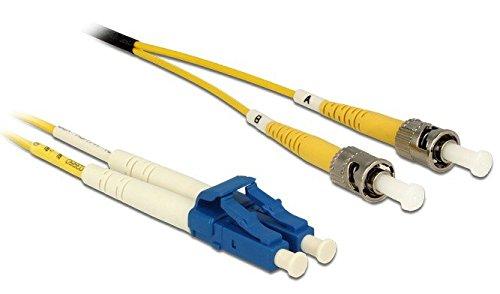 DeLock Kabel Lichtwellenleiter LC > ST Singlemode OS2 1 m