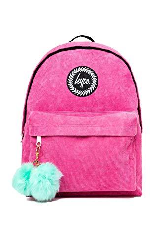 hype Corduroy Pom Pom Rucksack (Pink/Minzgrün)
