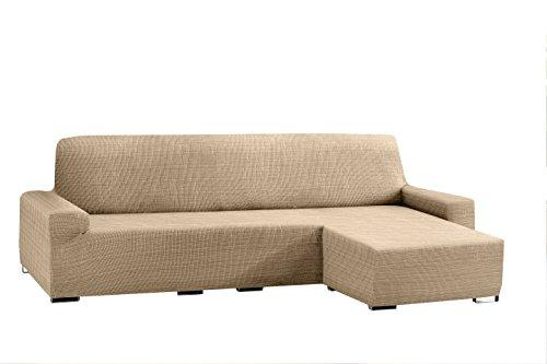 Eysa Aquiles bielástico Chaise Longue Corto Brazo Derecho, Polyester-Cotton, Beige, 43x 37x 14cm