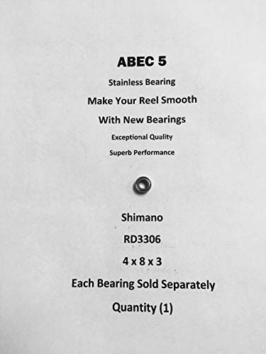 SHIMANO Spirex 1000RD RD3306 ABEC5 Stainless Line Roller Bearing...