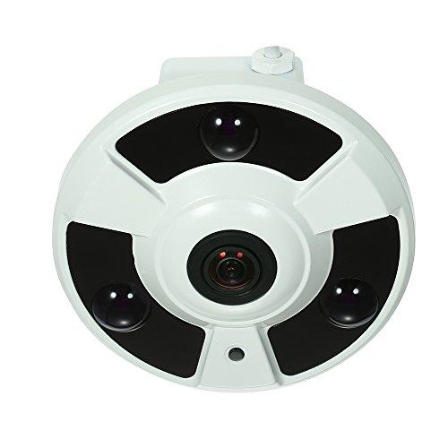 OWSOO Cámara CCTV 4MP AHD CVI TVI CVBS IR 1.7mm Ojo de Pez Panorámico 180 ° VR CAM Soporte IR-Cut Vision Nocturna 3pcs Array IR Leds para Sistema PAL de Vigilancia en Hogar