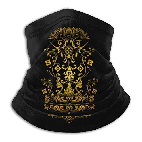 Overlooked Shop Scaldacollo Motivo Geometrico Ornamento Floreale Giallo Nero Maschera facciale Scaldacollo Passamontagna Multifunzionale Bandana Outdoor
