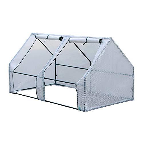 Túnel de efecto invernadero para el cultivo de tomates y hortalizas, Polytunnel de jardín, campana de frutas y verduras al aire libre, cubierta de PE reforzado resistente a los rayos UV