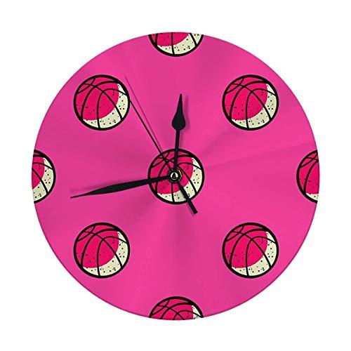 Mesllings Reloj de pared con diseño de pelota de baloncesto de 24,8 cm