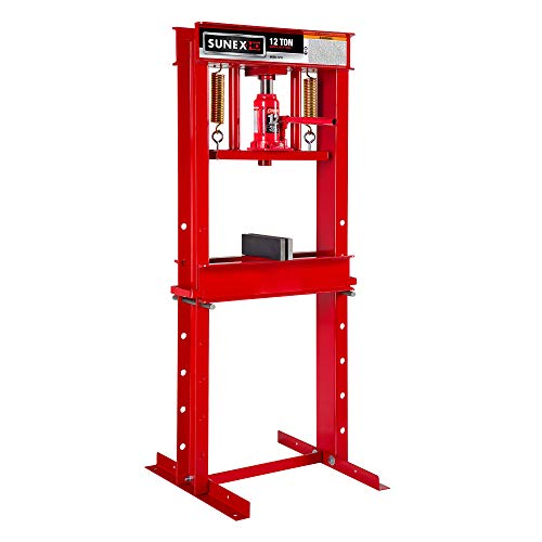 Why Should You Buy Sunex 5712 Fully-Welded Manual Hydraulic Shop Press, 12 Tons