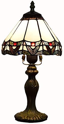 Lievevt Lámpara Escritorio LED Simple y Creativo de Vidrio de Color Sala de Estar/Comedor/Dormitorio lámpara de mesita de Noche joyería Decorativa de 8 Pulgadas