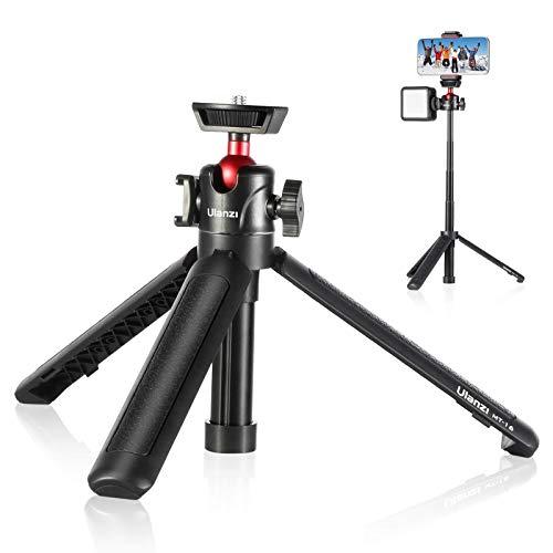 【2020進化版】ULANZI MT-16 カメラ三脚 自撮り棒 スマホ3way 4段伸縮 卓上三脚 ミニ三脚 自由雲台 360度回転軽量 vlog セルカ棒 折りたたみ 持ち運び便利 Sony A6600/A6400/A6300/A6000/RX100 VII/A7 III/ZV-1/Fujifilm X-T100 X-T200 X-T4/Canon M6/G7X Mark III/iPhone/Android 適用