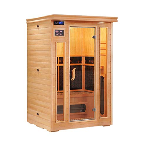 Lee 54069 ADKINC Infrarotsauna, Person 1/2/3/4 Negative Ionen tragbare Innensauna mit Stuhl und beheiztem Fußpolster, chinesische Tanne, Indoor Home Spa Weight Loss Detox
