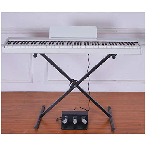 Great Features Of HBIAO 88-Key Digital Piano Keyboard, Portable Digital Piano, Weighted Action Keys Smart Digital for Home Children Beginners,White