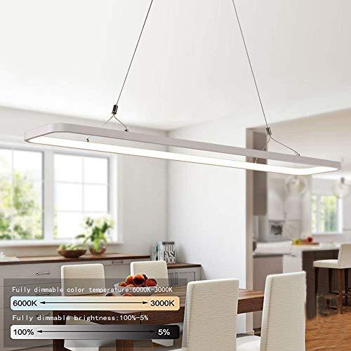 EYLM Lámpara Colgante LED, Luz Moderna Colgante de Techo LED 45W con Luz Ajustable(3000-6500K) y Control Remoto para Comedor/Sala de Estar/Restaurante/Bar/Cafetería