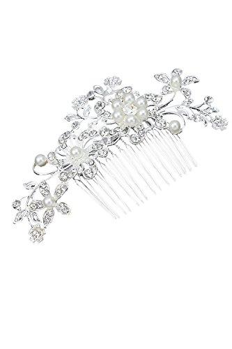 Vococal® Femmes Élégantes Épingle Fleur Strass Peigne Clip Brillant Mariée Accessoires Cheveux