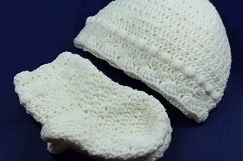 Baby-Set: Mütze + Socken Babykleidung Handarbeit gehäkelt