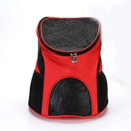 FHOMDOD Small Dog Bag Backpack, Light and Breathable Travel Bag, Light and Breathable, Suitable for Outdoor Travel, Sightseeing, Camping Hiking