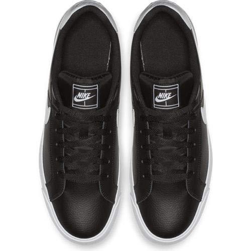 Zapatillas/NIKE:NIKE Court Royale 44 Negro/Blanco