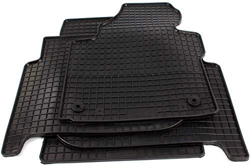 PETEX Gummimatten passend für Touran ab 02/2003-08/2015 5-7 Sitzer vorne und Fahrgastraum 1. Sitzreihe Fußmatten schwarz 4-teilig