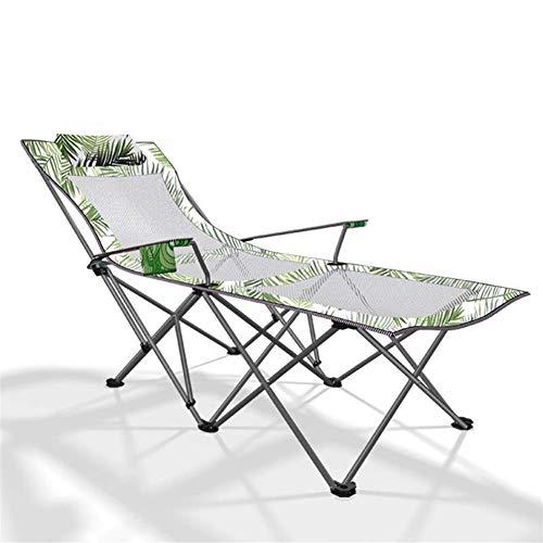 KUYH Tumbona, cama individual plegable para almuerzo, silla plegable al aire libre, cama plegable, tela de fibra sintética transpirable, 170 x 87 x 70 cm
