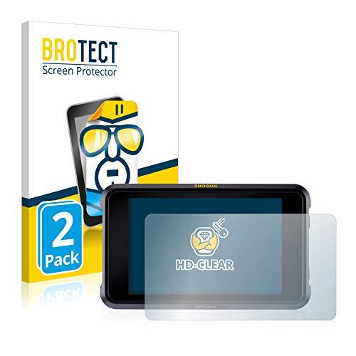 BROTECT Schutzfolie kompatibel mit Atomos Shogun 7 (2 Stück) klare Displayschutz-Folie
