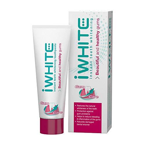 Pasta de dientes blanqueadora iWhite Instant cuidado de encías - Triple acción - Blanquea y protege - Restaura el esmalte - Ingredientes probados clínicamente - Hecho con aceite de árbol de té
