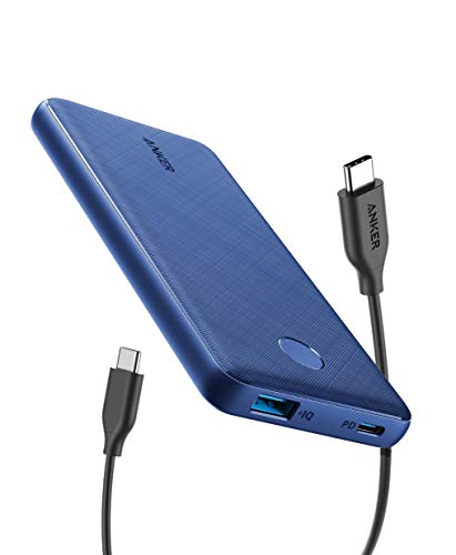 Anker PowerCore Slim 10000 PD(モバイルバッテリー 10000mAh PD対応 大容量)【PSE認証済/USB Power Delivery対応/低電流モード搭載】 iPhone & Android 各種対応(ブルー)