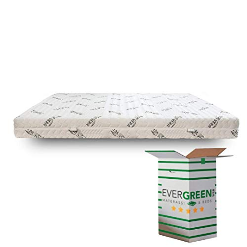Evergreenweb - Materasso Singolo 80x190 Alto 18 cm in Lattice con Rivestimento Oli Aloe Vera Sfoderabile 7 Zone Differenziate rigidità Media Anallergico Antiacaro Antibatterico Traspirante Ergonomico